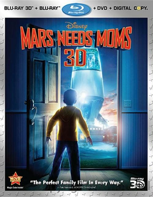 Mars Needs Moms 3D (Blu-ray 3D + Blu-ray + DVD + Digital Copy)