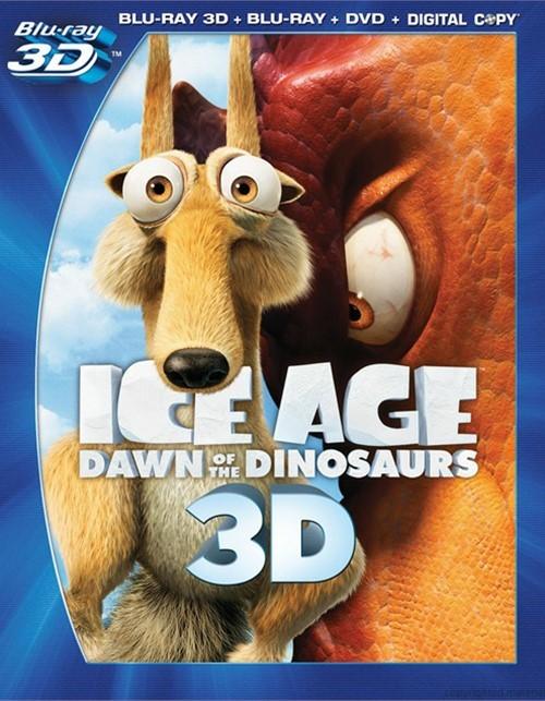 Ice Age: Dawn Of The Dinosaurs 3D (Blu-ray 3D + Blu-ray + DVD + Digital Copy)