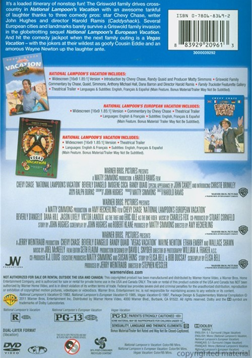Vacation Dvd Empire: Vacation: 3-Movie Collection (DVD)