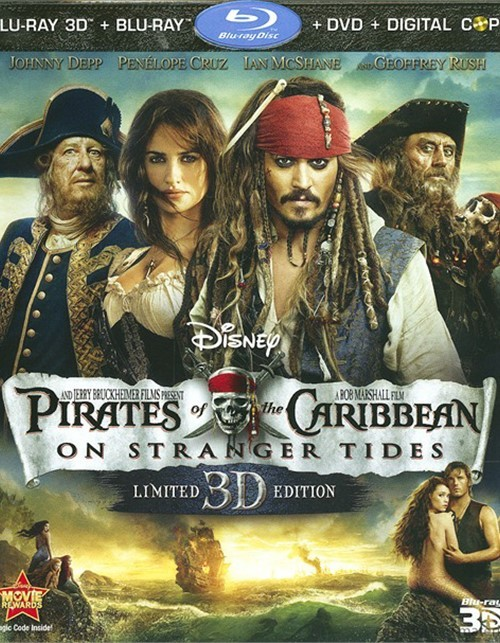 Pirates Of The Caribbean: On Stranger Tides 3D (Blu-ray 3D + Blu-ray + DVD + Digital Copy)