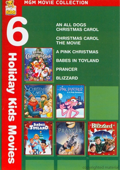 All Dogs Christmas Carol, An / Christmas Carol: The Movie / Pink Panther: A Pink Christmas / Babes In Toyland / Prancer / Blizzard (6 Holiday Movies)