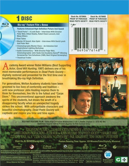 reaction paper dead poets society Dead poets society research papers discuss the film, starring robin williams, about an english teacher at a conservative, aristocratic boarding school who inspires in his students a love of poetry.