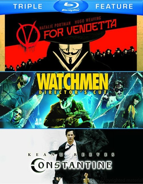 V For Vendetta / Watchmen / Constantine (Triple Feature)
