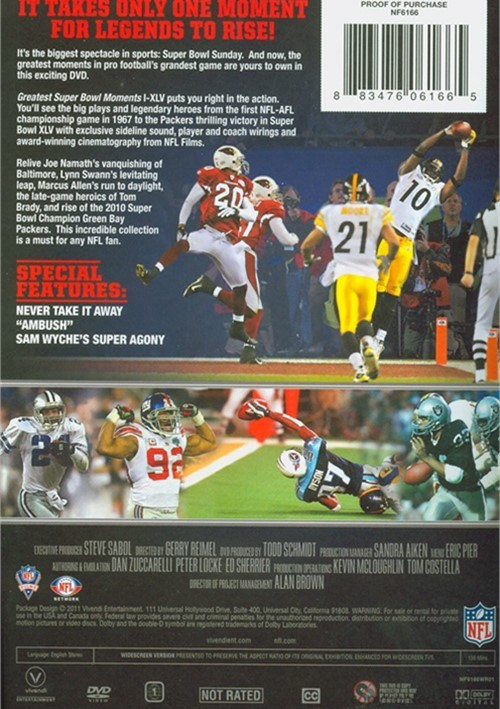 NFL: Greatest Super Bowl Moments DVD 2011 DVD Empire