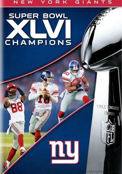 NFL Super Bowl XLVI Champions: 2011 New York Giants DVD 2012  DVD Empire