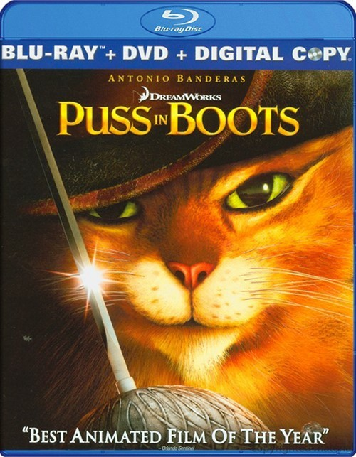 Puss In Boots (Blu-ray + DVD + Digital copy)