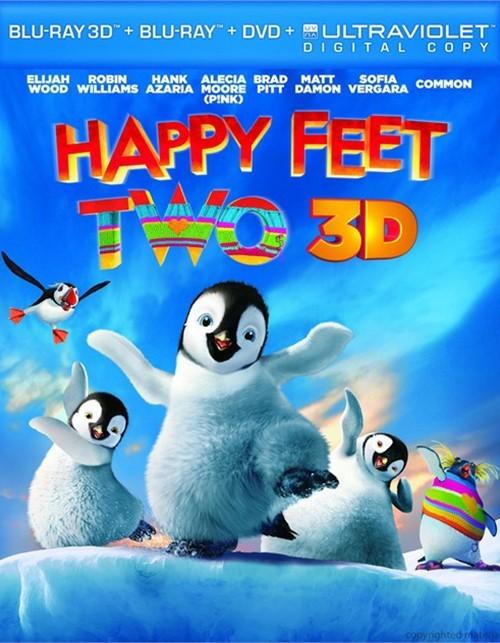 Happy Feet Two 3D (Blu-ray 3D + Blu-ray + DVD + Digital Copy)