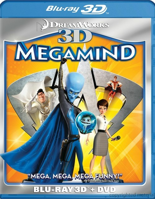 Megamind 3D (Blu-ray 3D + DVD Combo)