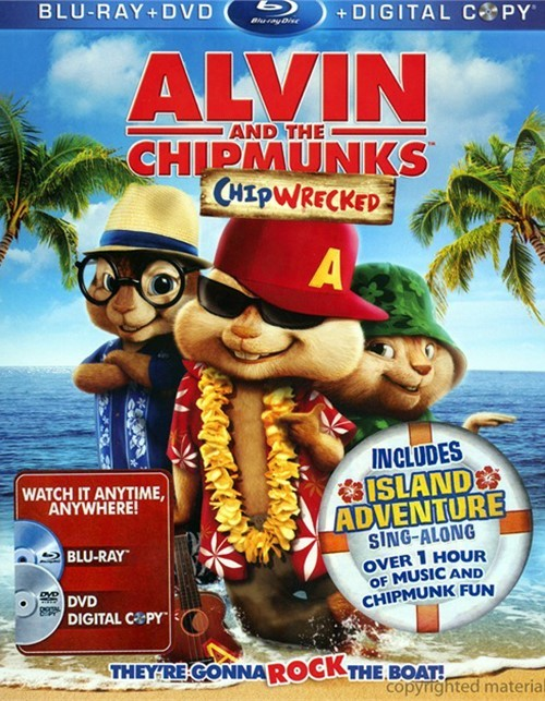 Alvin And The Chipmunks: Chipwrecked (Blu-ray + DVD + Digital Copy)