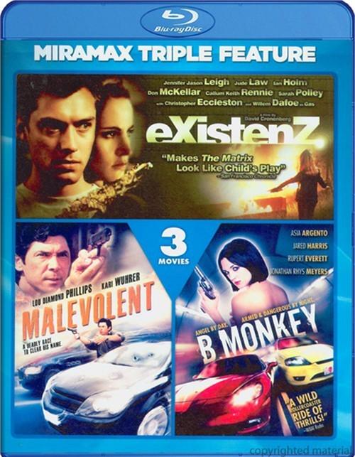 eXistenZ / B.Monkey / Malevolent (Triple Feature)