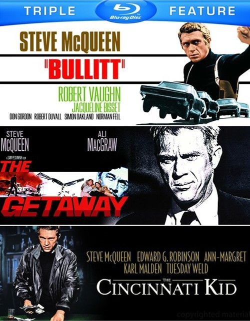 Bullitt / The Cincinnati Kid / The Getaway (Triple Feature)