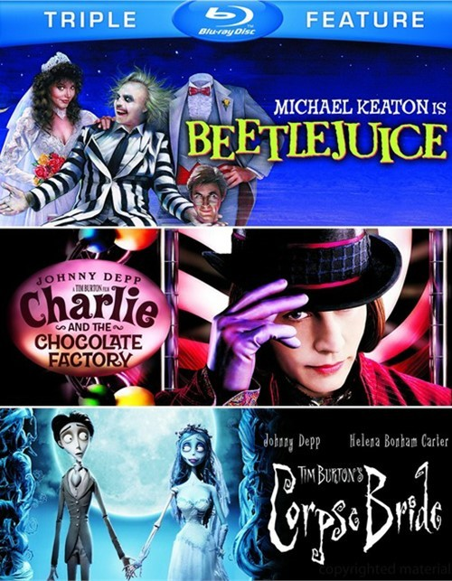 Beetlejuice / Charlie And The Chocolate Factory / Tim Burtons Corpse Bride (Triple Feature)