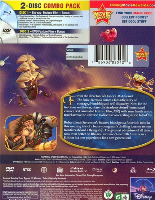 treasure planet dvd - 500×643