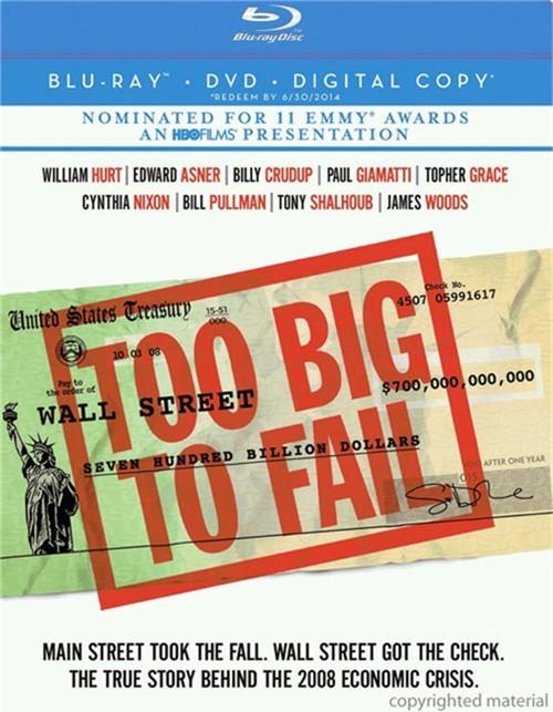 Too Big To Fail (Blu-ray + DVD + Digital Copy)