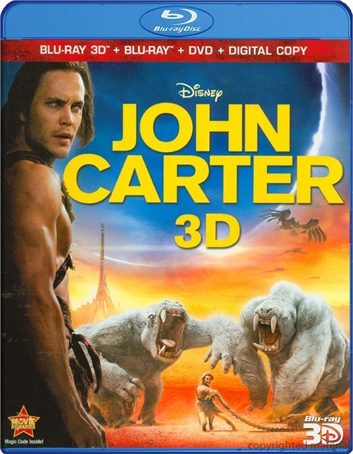 John Carter 3D (Blu-ray 3D + Blu-ray + DVD + Digital Copy)