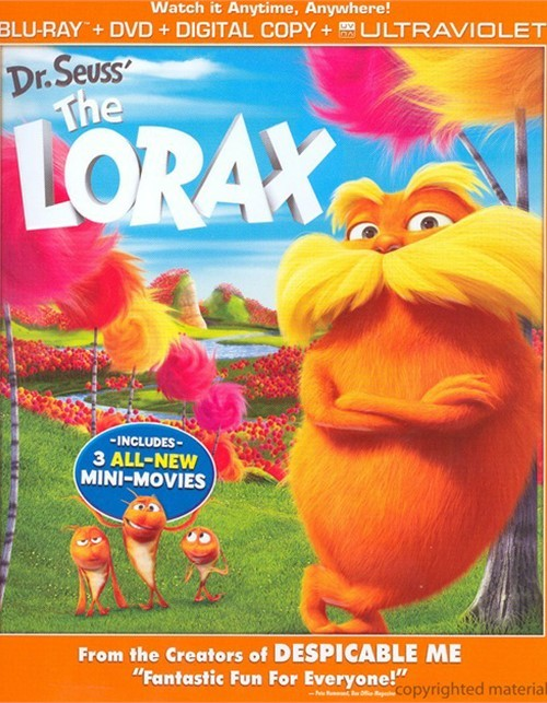 Dr. Seuss The Lorax (Blu-ray + DVD + Digital Copy + UltraViolet)