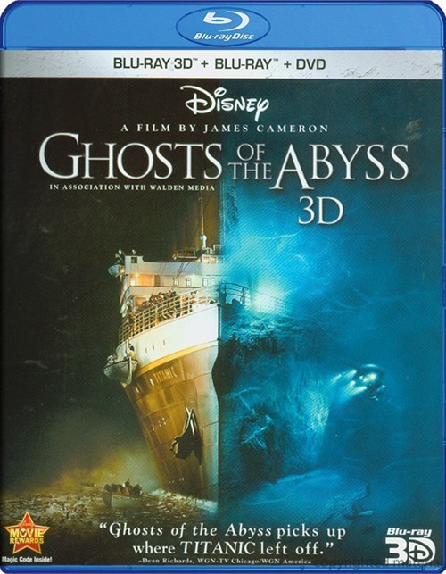 Ghosts Of The Abyss 3D (3D Blu-ray + Blu-ray + DVD)