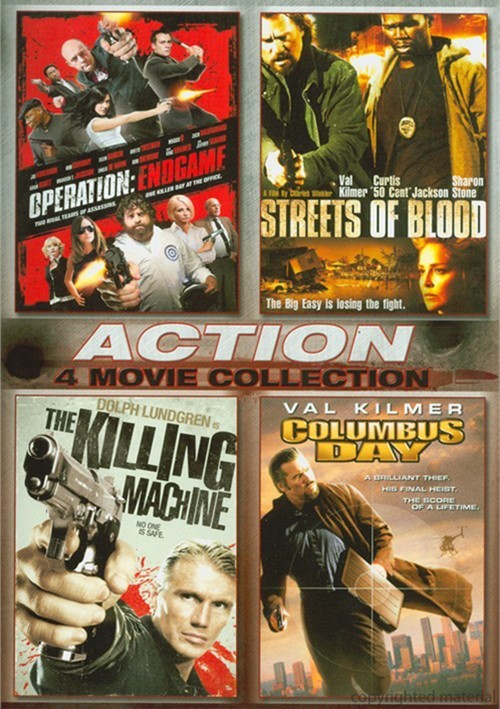 Operation: Endgame / Streets Of Blood / Columbus Day / The Killing Machine (4 Film Action Collection)