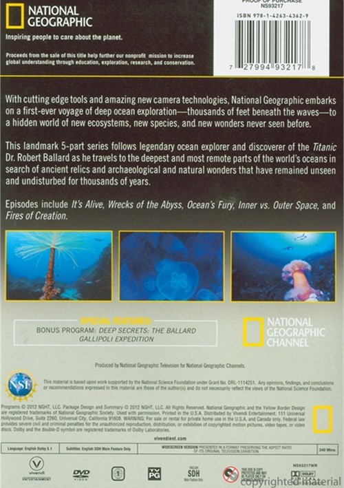 National Geographic: Alien Deep With Bob Ballard (DVD) | DVD Empire