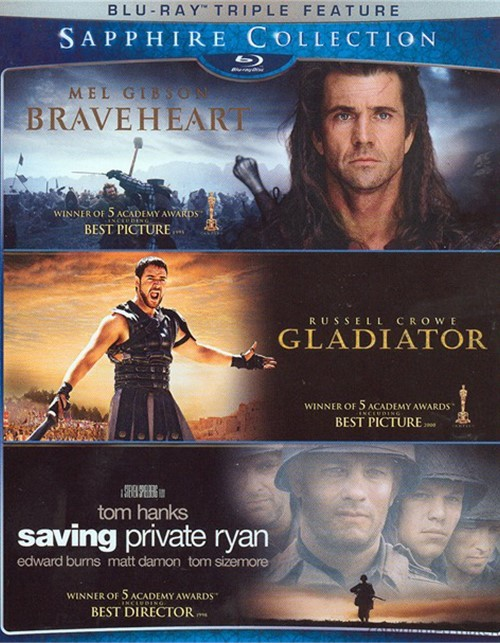 Braveheart / Gladiator / Saving Private Ryan (The Sapphire Collection)