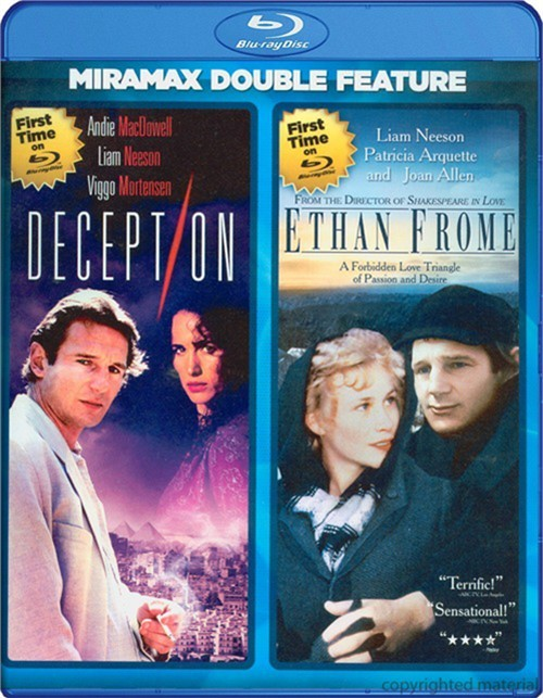 Deception / Ethan Frome (Double Feature)