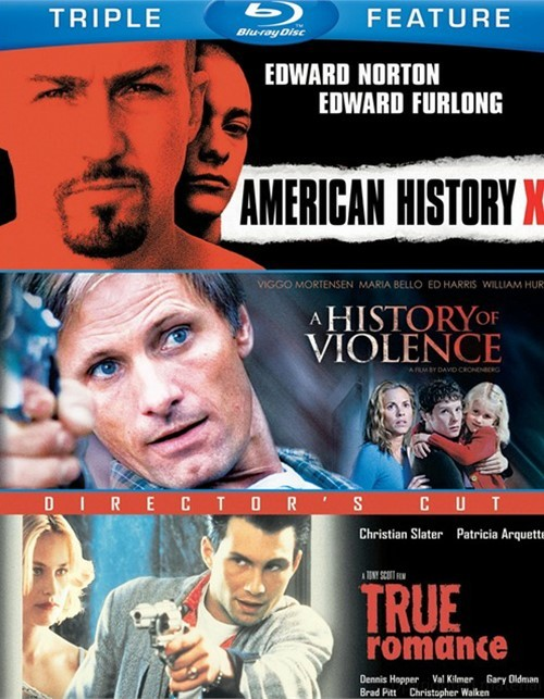 American History X / A History Of Violence / True Romance (Triple Feature)