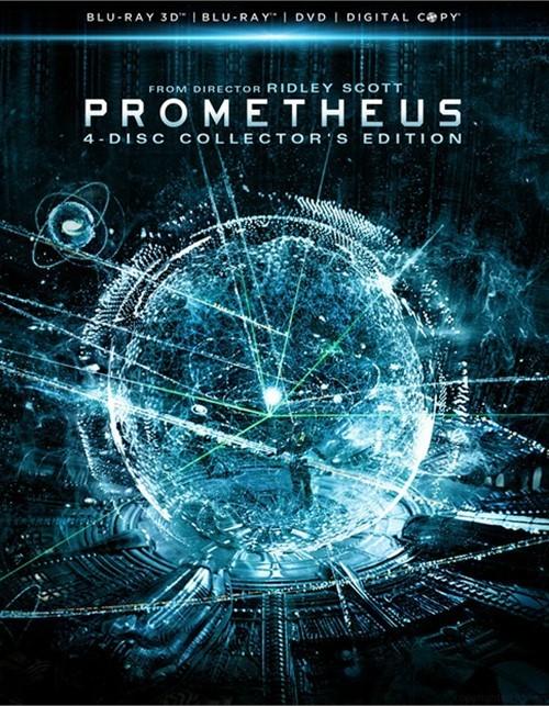 Prometheus 3D: 4 Disc Collectors Edition (Blu-ray 3D + Blu-ray + DVD + Digital Copy)