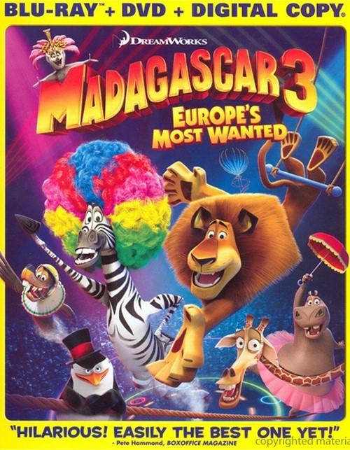 Madagascar 3: Europes Most Wanted (Blu-ray + DVD + Digital Copy)
