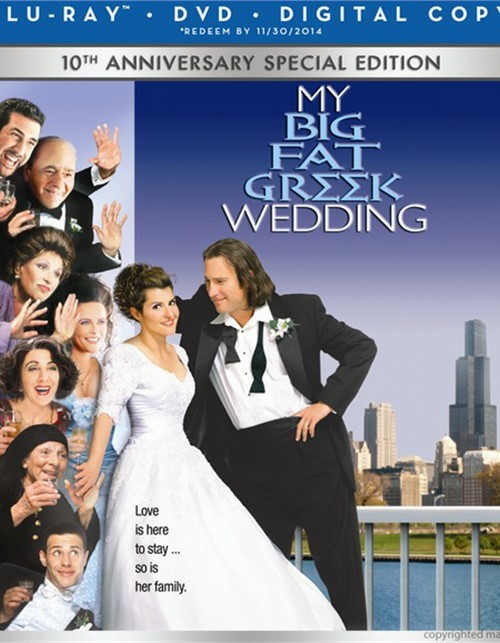 My Big Fat Greek Wedding (Blu-ray + DVD + Digital Copy)