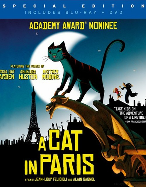 Cat In Paris, A (Blu-ray + DVD Combo)