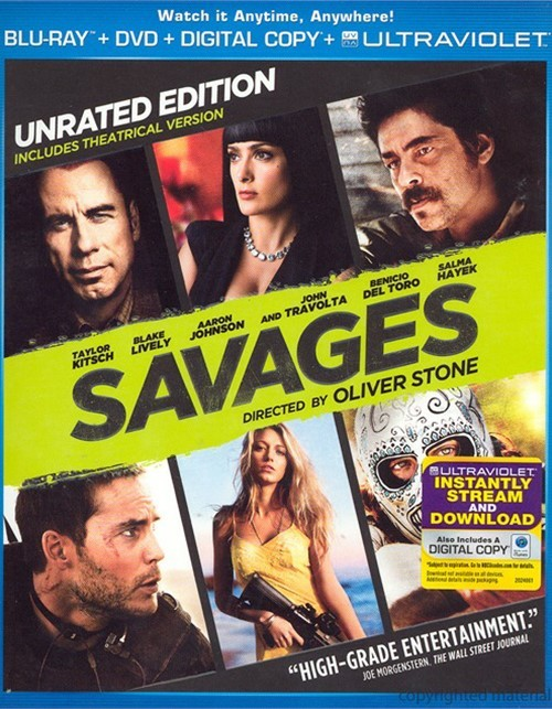 Savages (Blu-ray + DVD + Digital Copy + UltraViolet)