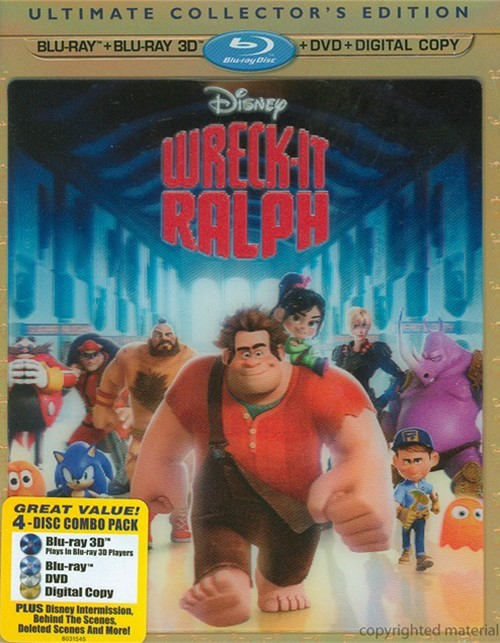 Wreck-It Ralph 3D (Blu-ray 3D + Blu-ray + DVD + Digital Copy)
