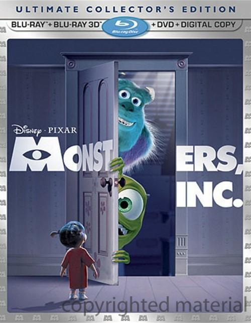 Monsters, Inc. 3D (Blu-ray 3D + Blu-ray + DVD + Digital Copy)