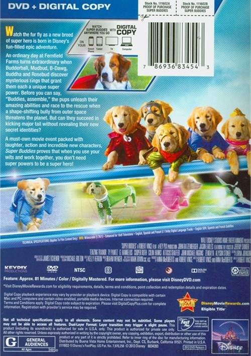 Super Buddies Dvd  Digital Copy Dvd 2013  Dvd Empire-1829