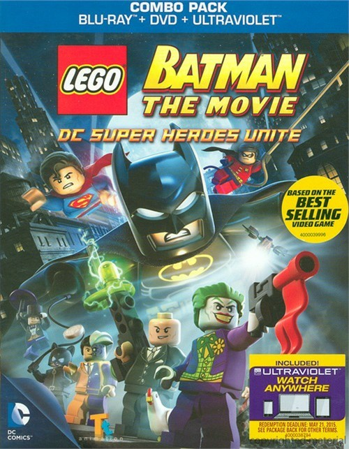 LEGO Batman: The Movie - DC Superheroes Unite (Blu-ray + DVD + UltraViolet)