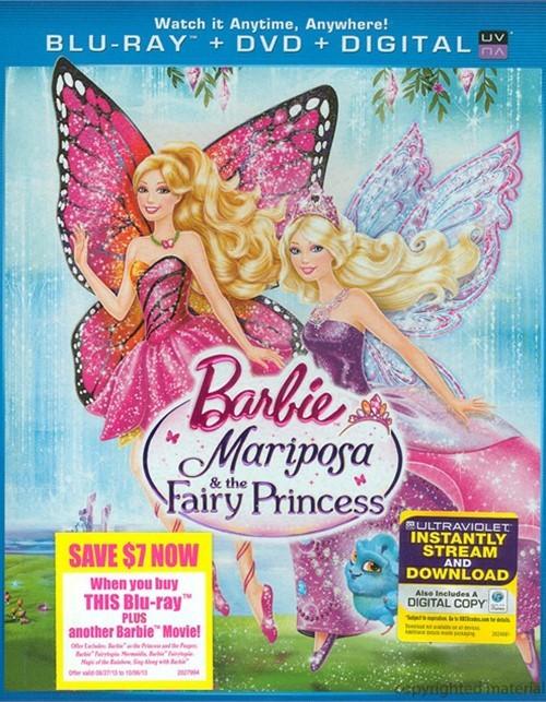Barbie: Mariposa And The Fairy Princess (Blu-ray + DVD + Digital Copy + UltraViolet)