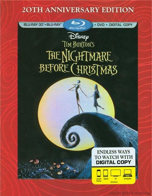 Nightmare Before Christmas 3D, The: 20th Anniversary Edition (Blu-ray 3D + Blu-ray + DVD + Digital Copy)