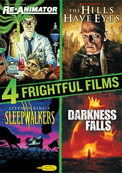 4 Frightful Films Collection (Re-Animator / The Hills Have Eyes / Darkness Falls / Sl--pwalkers)