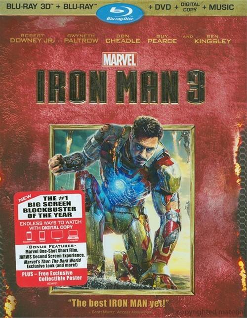 Iron Man 3 3D (Blu-ray 3D + Blu-ray + DVD + Digital Copy)