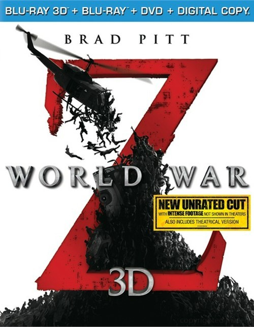 World War Z 3D (Blu-ray 3D + Blu-ray + DVD + Digital Copy)