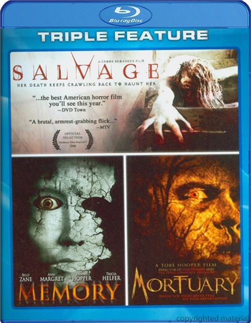 Mortuary / Salvage / Memory (Triple Feature)