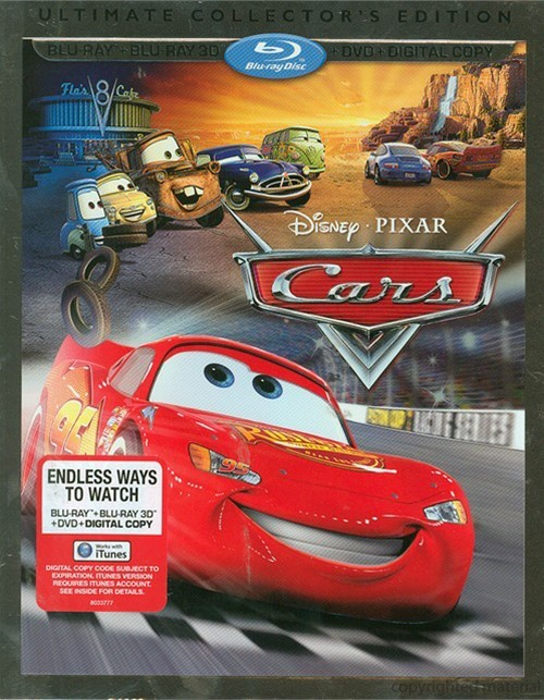 Cars 3D (Blu-ray 3D + Blu-ray + DVD + Digital Copy)