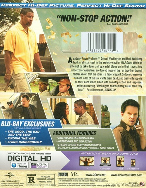 2 Guns (Blu-ray + DVD + UltraViolet) (Blu-ray 2013) | DVD ...2 Guns Blu Ray Cover