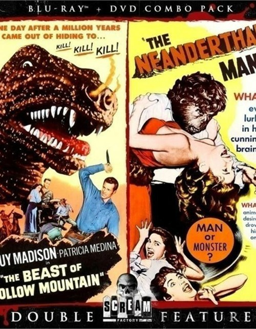 Beast Of Hollow Mountain, The / The Neanderthal Man: Double Feature (Blu-ray + DVD Combo)