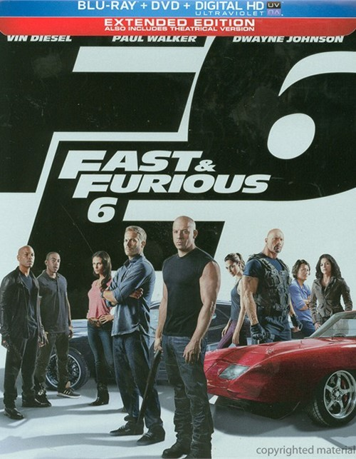 Fast & Furious 6 (Steelbook + Blu-ray + DVD + UltraViolet)