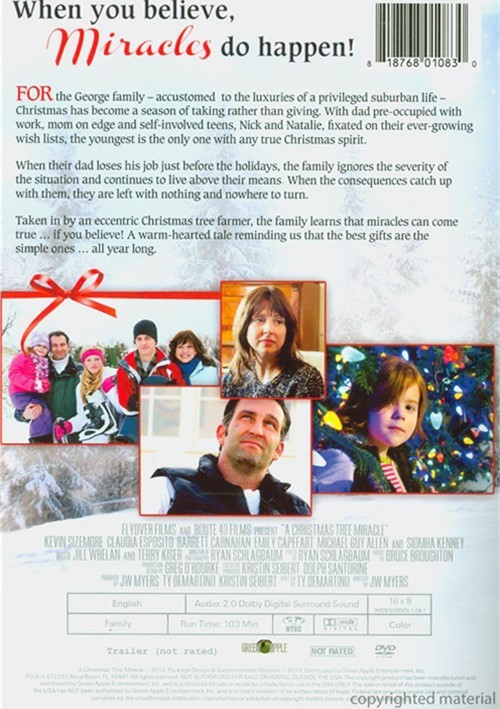Christmas Tree Miracle, A (DVD 2013) | DVD Empire