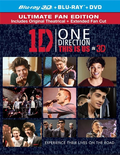 One Direction: This Is Us 3D (Blu-ray 3D + Blu-ray + DVD + UltraViolet)