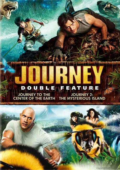 Journey To The Center Of the Earth / Journey 2: The Mysterious Island (Double Feature)