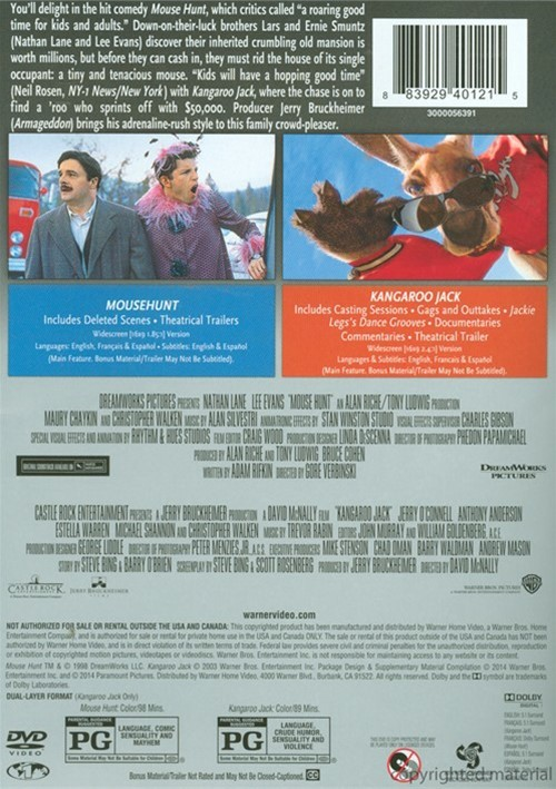 Mousehunt  Kangaroo Jack Double Feature Dvd  Dvd Empire-4931