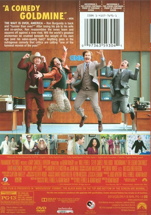 anchorman 2 the legend continues dvd 2013 dvd empire